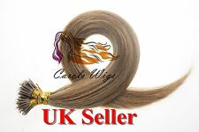 "Best Quality 16"" 1g 8A Nano Ring Double Drawn Armenian Human Hair Extensions UK"
