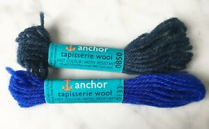Anchor Tapisserie Wool Persian Crewel Tapestry Yarn - 2 Skeins Blue #133 #850
