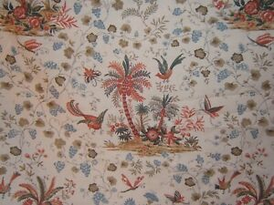 Lee Jofa, Martinique, Exotic Floral with Birds, Buttterflie,  BTY, Clr Red Multi