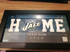 More details for utah jazz plaque framed 18.5x33.8mm home sweet home fanatics collectible hologra