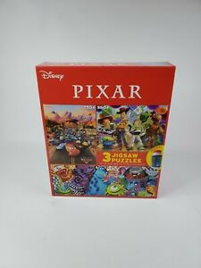 Disney Jigsaw 3in1 Puzzles 550-750 Pcs Toy Story Cars Monster Christmas Gift New
