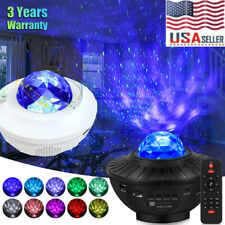 LED Starry Night Sky Galaxy Projector Lamp 3D Ocean Wave Star Light Party Decor