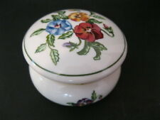 Partylite Pansies Hinged Trinket Box / Votive Candle Holder