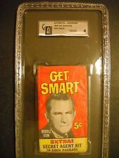 1966 GET SMART CARD PACK TOPPS  AUTHENTIC GRADED GAI 4 (SCARCE PACK)