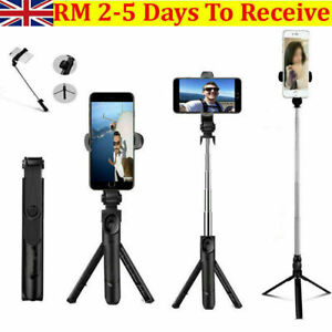 Bluetooth Selfie Stick Telescopic Tripod Phone Holder For Apple iPhone12 Android
