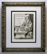 Striking 1800s Albrecht DURER Etching ERASMUS Original DURAND Framed SIGNED COA