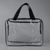 Clear PVC Cosmetic Organizer Bag Travel Waterproof Toiletry Makeup Zip Bag