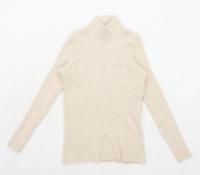 Mondi Womens Size L Wool Beige Jumper (Regular)