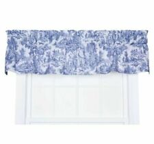 """ELLIS Victoria Toile STRAIGHT VALANCE BLUE T675 FRENCH COUNTRY 70 x 16"""""""