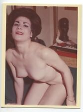 Mature Slim Female Perky Tiny Breasts Bust 1950 Original Nude Color Photo  B6675
