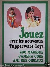 PROSPECTUS ANNÉE 1968 JOUEZ AVEC LES TUPPERWARE-TOY ZOO MAGIQUE - 4 PAGES