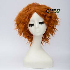 Cosplay Wig For Film Figur Mad Hatter Women Girls Dark Orange Wigs+Cap