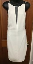 WHITE COCKTAIL DRESS 10 BNWT NEXT Ecru Strappy Backless Sheer Panel RRP £65
