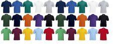 Men's Fruit of the Loom Polo Shirt Plain Short Sleeve Polo T Shirt Top S - XXXL