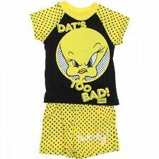 Ensemble tee shirt + short 3 ans TITI Noir et jaune enfant NEUF TWEETY