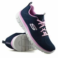 Womens Skechers Lace Up Memory Foam Walking Running Sports Trainers Shoes Size