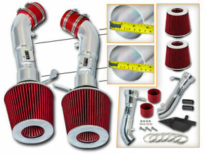 BCP RED Heat Shield Cold Air Intake For 2008-2013 G37 Coupe 3.7 V6