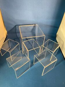 Clear Acrylic Display Stands - 6 total