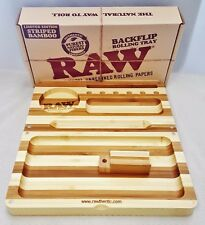 Raw Bamboo Limited Edition Striped BACKFLIP Magnetic Rolling Tray Free Shipping