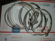 """10 NEW Heavy Duty Hose Clamps  Flex-Gear Constant Tension 6 1/4"""" -- 7 1/8"""" Ideal"""