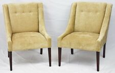 Pair of Mid-Century Modern Baker Style Tuffed Backed Club Chairs