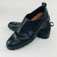 Cole Haan Mens 10.5 Black Leather Slip On Stretch Loafers Shoes Driving