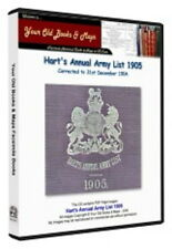Hart's Annual Army List 1905 DATA CDROM