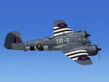 Giant 1/7 Scale British WW-II Bristol Beaufighter Mk X Twin Plans,Templates 88ws