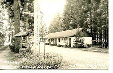 Wishing Well Motel-Sign-McKenzie Bridge-Oregon-RPPC-Vintage Real Photo Postcard