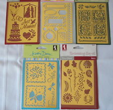 5 Lot of Solid Brass Embossing Stencils -Nature - Garden - Noel - Wedding -Tags