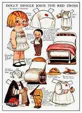 Craft cd de 24 vintage paper dolls A4 sized PAPERCRAFTS jouets rétro découpes
