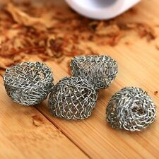 10 X Easy Use Tobacco Pipe Silver Screen Metal Ball Filter 17mm Help Combustion