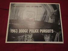 1963 DODGE 330 440 880 POLICE COP CARS ORIGINAL DEALER SALES BROCHURE RARE!