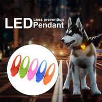 Dog Cat Pet Led Night Light Collar Buckle Pendant Leash Flashing Clip Luminous K