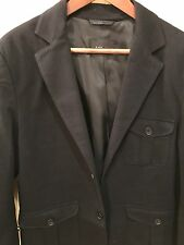 Zara Men's Lined Blazer Black Size L Custom Tailored Sleeve 33 NWOT Was $149