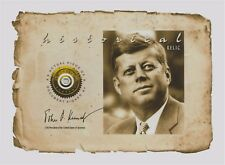 JOHN F. KENNEDY handled, signed PIECE OF DOCUMENT relic, swatch, owned, personal