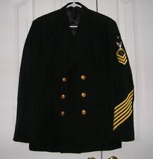 US Navy Senior Chief Petty Officer SCPO Service Dress Blue Uniform Jacket 40R 42