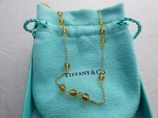 5f43769cc Tiffany & Co. 18K Yellow Gold Orange Citrine 31 Bead Pendant Necklace 24  Inches