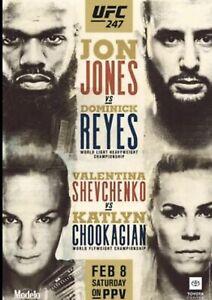 "UFC 247 Official 22"" x 28"" Fight Poster Jon Jones Vs  Dominick Reyes"