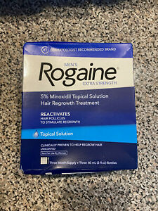 NEW Rogaine Topical Solution for Men - Three Month Supply - EXP 1/2021!!!