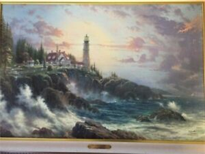 "Thomas Kinkade Lithograph ""Clearing Storms"""