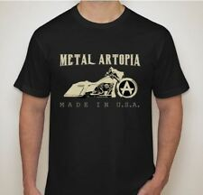 Custom Motorcycle T-shirt LARGE Harley Davidson Baggers by Metal Artopia
