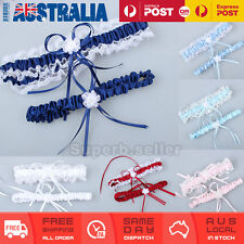 Blue/White/Red/Pink/Navy Wedding Bridal Garter Set Lace Floral Satin Keep&Throw