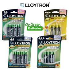 More details for lloytron aa 800-2700 mah aaa 550-1100 mah rechargeable batteries precharged nimh