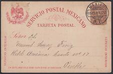 MEXICO, 1898. Post Card H&G 87, Mexico City - Puebla