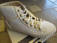 NEW ROXY BILLIE WHITE MID TOP SNEAKER SHOES WOMENS 8.5 ESPADRILLE FREE SHIP
