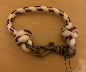 polo ralph lauren Cotton Robe Wrist band bracelet Burgundy / Cream