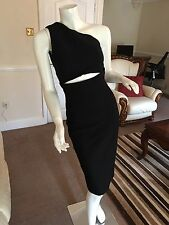 ASOS Midi Textured Dress With Cut Out (UK16) BNWT