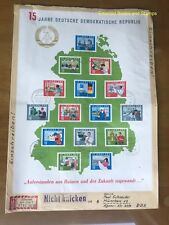 EBS East Germany DDR 1964 15th anniversary GDR Michel Block 19 on cover CV €100