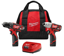 Cordless M12 12-Volt Lithium Drill Milwaukee  Driver 1 New, Combo Kit 2 Tools